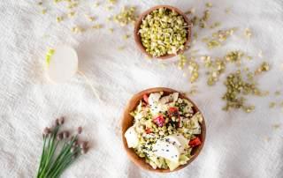 Salát s vajíčkovou zálivkou